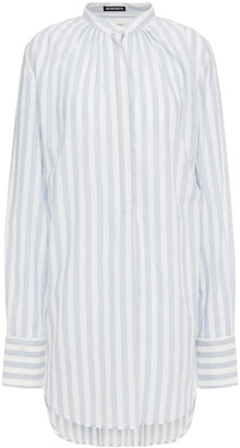 Ann Demeulemeester Gathered Striped Cotton Top