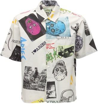 Aries Thrasher Printed Cotton Hawaiian Shirt
