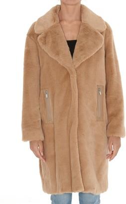 Pinko Pink Faux-Fur Oversize Coat