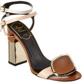 Roger Vivier Podium Chips West Buckle Leather Sandal