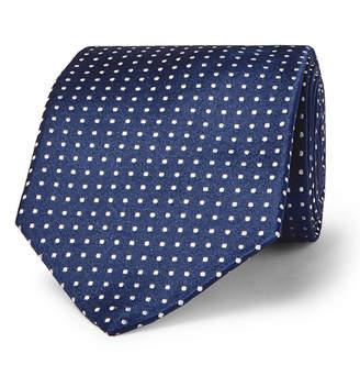 Canali 8cm Pin-Dot Silk Tie
