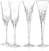 Waterford Monogram Set Of 2 Toasting Flutes Collection, Script or Block Letters