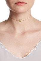Argentovivo 18K Yellow Gold Plated Sterling Silver 'N' Initial Heart Choker Necklace