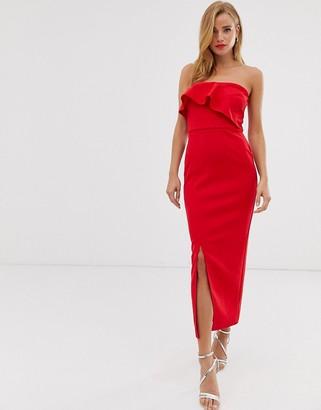 True Violet drape frill midaxi dress