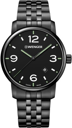 Wenger Men's Classic Swiss-Quartz Watch with Stainless-Steel Strap