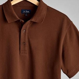 Tie Bar Brown Pique Polo