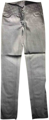 Chanel Grey Cotton Jeans