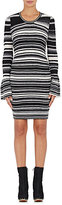 Opening Ceremony Women's Striped Smocked Minidress-BLACK
