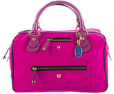 Tod's Patent Leather-Trimmed Satchel