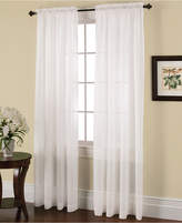 """Miller Curtains Solunar Crushed Voile 54"""" x 95"""" Insulating Sheer Curtain Panel"""
