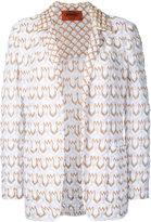 Missoni patterned blazer - women - Cotton/Polyester/Cupro - 42
