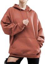 Pofachawis Women Pullover Hoodies Sweater Reg and Plus Size Sweatshirts Orange 3XL