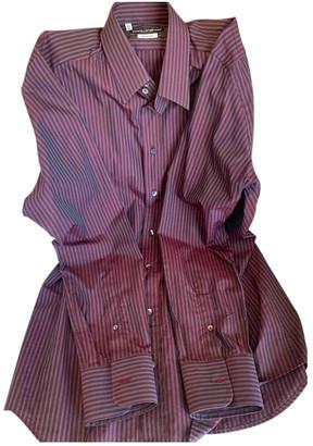 Dolce & Gabbana Purple Cotton Shirts