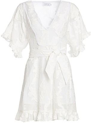 Tanya Taylor Gabriela Short Sleeve Burnout Floral Dress