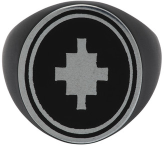Marcelo Burlon County of Milan Black Cross Ring