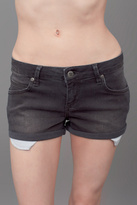 Anine Bing Lowrise Jean Shorts Charcoal