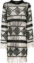 Nicole Miller fringed dress - women - Cotton/Polyester/Spandex/Elastane - XS