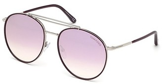 Tom Ford Wesley 58MM Round Sunglasses