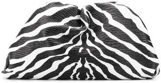 Bottega Veneta The Pouch zebra print clutch