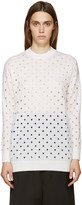 McQ by Alexander McQueen Ivory Perforated Sweater