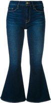 Frame flared cropped jeans - women - Cotton/Spandex/Elastane - 27
