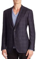 Pal Zileri Wool & Silk-Blend Plaid Jacket