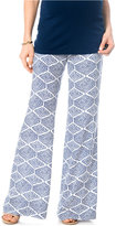 A Pea in the Pod Maternity Printed Wide-Leg Soft Pants