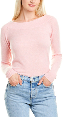 Forte Cashmere Shaped Cashmere Boatneck Sweater
