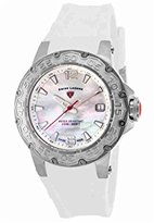 Swiss Legend Women's Quartz Stainless Steel and Silicone Casual Watch, Color:White (Model: SL14098SM02WHT)