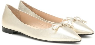 Prada Saffiano leather ballet flats