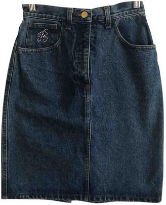 Blumarine Blue Cotton Skirt for Women Vintage