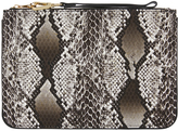 Accessorize Nika Snake Ziptop Clutch Bag