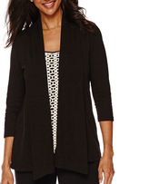 Sag Harbor Animal Instinct 3/4-Sleeve Layered Top