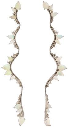 Fernando Jorge Opal and Diamond Electric Bold Earrings