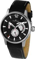 Jacques Lemans Men's 1-1741G Porto Sport Analog Leather Strap Watch