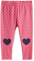 First Impressions Bow-Print Heart-Patch Leggings, Baby Girls (0-24 months), Only at Macy's