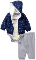 Little Me Sport Stripe Hoodie Set (Baby Boys)