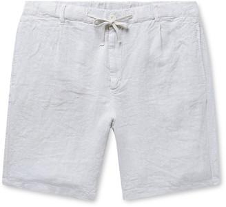 Hartford Pleated Linen Drawstring Shorts