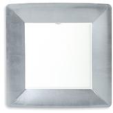 Caspari Silver Leaf Border Paper Dinner Plates, 8 Pack