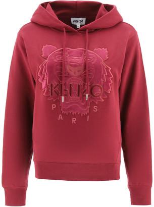 Kenzo Hooded Sweatshirt Velvet Patch Tiger
