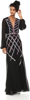 BCBGMAXAZRIA Azria Women's Embroidered Georgette Gown
