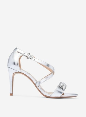 Dorothy Perkins Womens Showcase Wide Fit Silver 'Bing' Heel Sandals, Silver