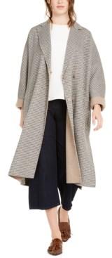 Max Mara Plaid Belted Wool-Blend Coat