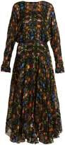 Preen by Thornton Bregazzi Bergamot floral-print silk-blend devoré dress