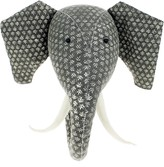 The Well Appointed House Fiona Walker England Grey Print Elephant Head Wall Decor for Kids
