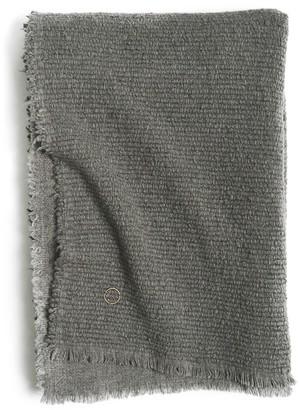 Oyuna Kalin Woven Wool/Silk/Cashmere Throw In Slate Grey