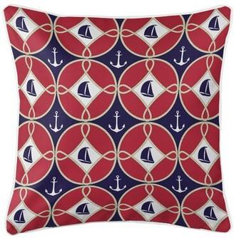 Nautical Sailboats and Anchors Throw Pillow Island Girl Home