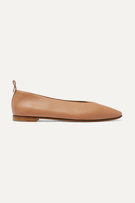 Bottega Veneta Leather Ballet Flats - Sand