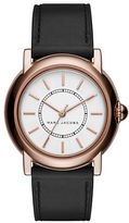 Marc Jacobs Analog Courtney Rose Goldtone Leather Strap Watch