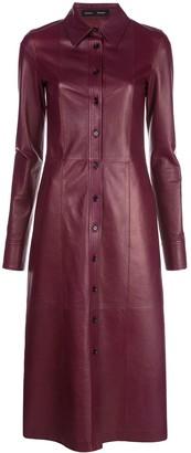 Proenza Schouler Leather Shirt Dress